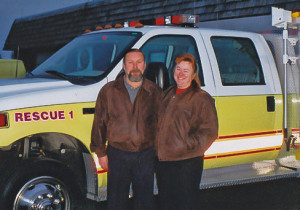 Barb and Dave in front of R-1 in 2005